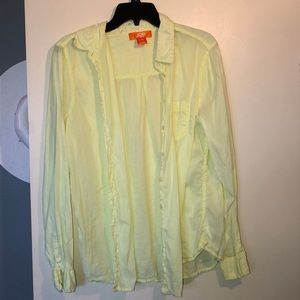 Joe Fresh yellow button down top